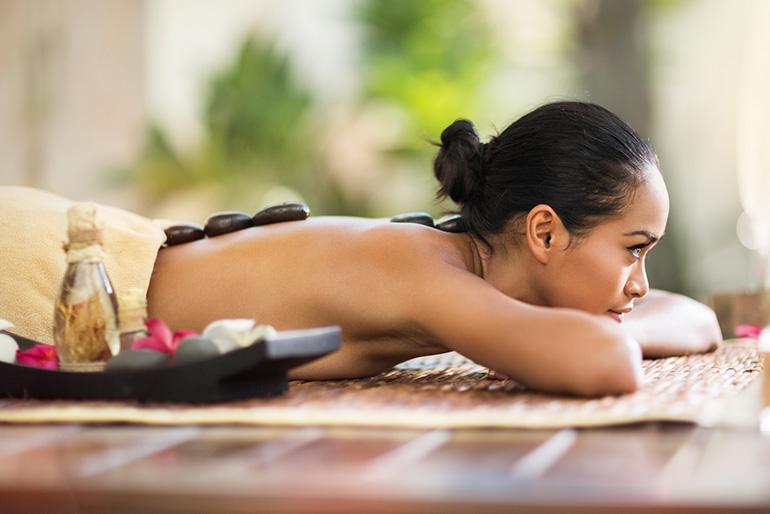Hot-Stone Massage Rücken